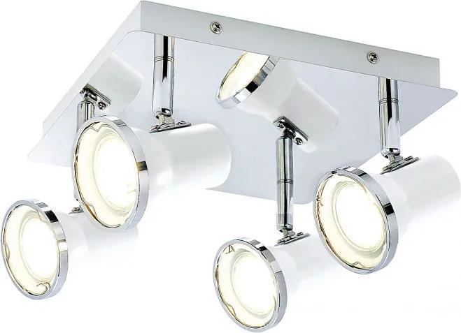 Rábalux Steve 5500 Stropné Kúpeľňové Lampy biely biely GU10 4x MAX 15W