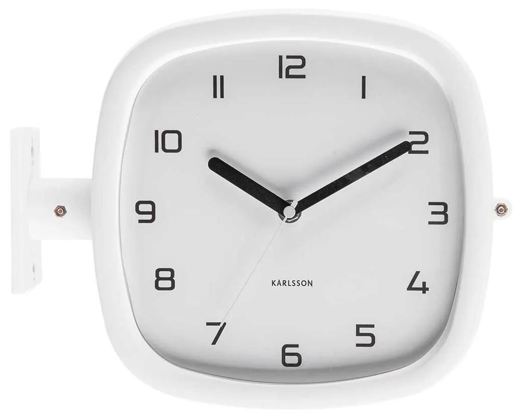 KARLSSON Nástenné hodiny Doubler biele