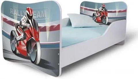 MAXMAX Detská posteľ so zásuvkou MOTORKA + matrac ZADARMO 180x80 pre chlapca ÁNO