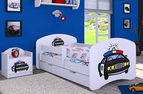 MAXMAX Detská posteľ so zásuvkou 180x90cm POLÍCIA