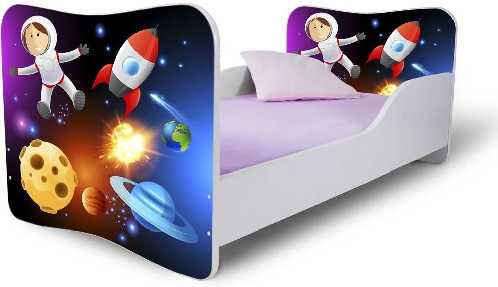 MAXMAX Detská posteľ VESMÍR + matrac ZADARMO 160x80 pre všetkých NIE