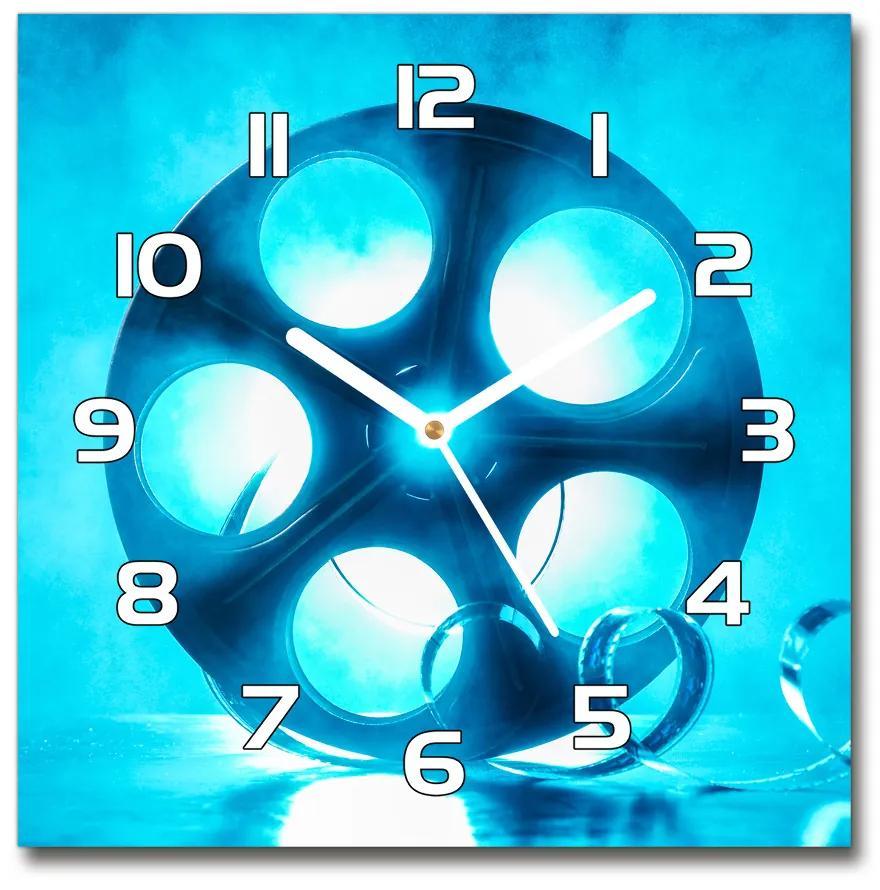 Sklenené hodiny na stenu Role filmu pl_zsk_30x30_f_102342802
