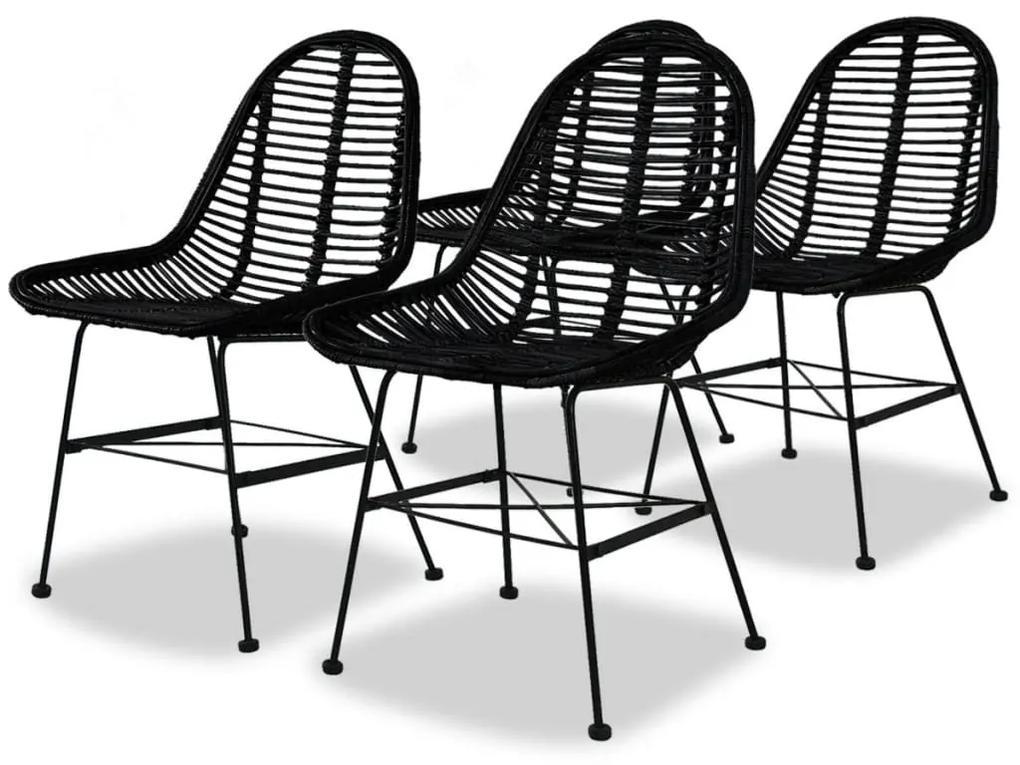 f7a2fcddd2855 Jedálenské ratanové stoličky, 4 ks, čierne | Biano