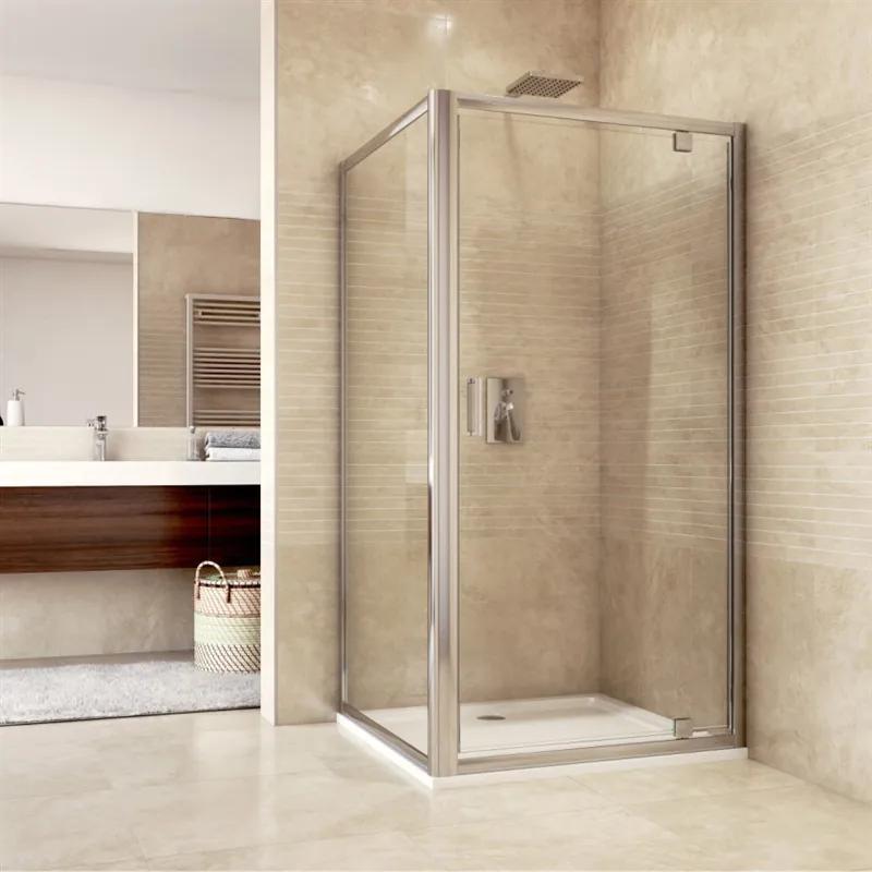MAXMAX Sprchovací kút, Mistic, obdĺžnik, 100x80 cm, chróm ALU, sklo Číre 100 obdélníkový