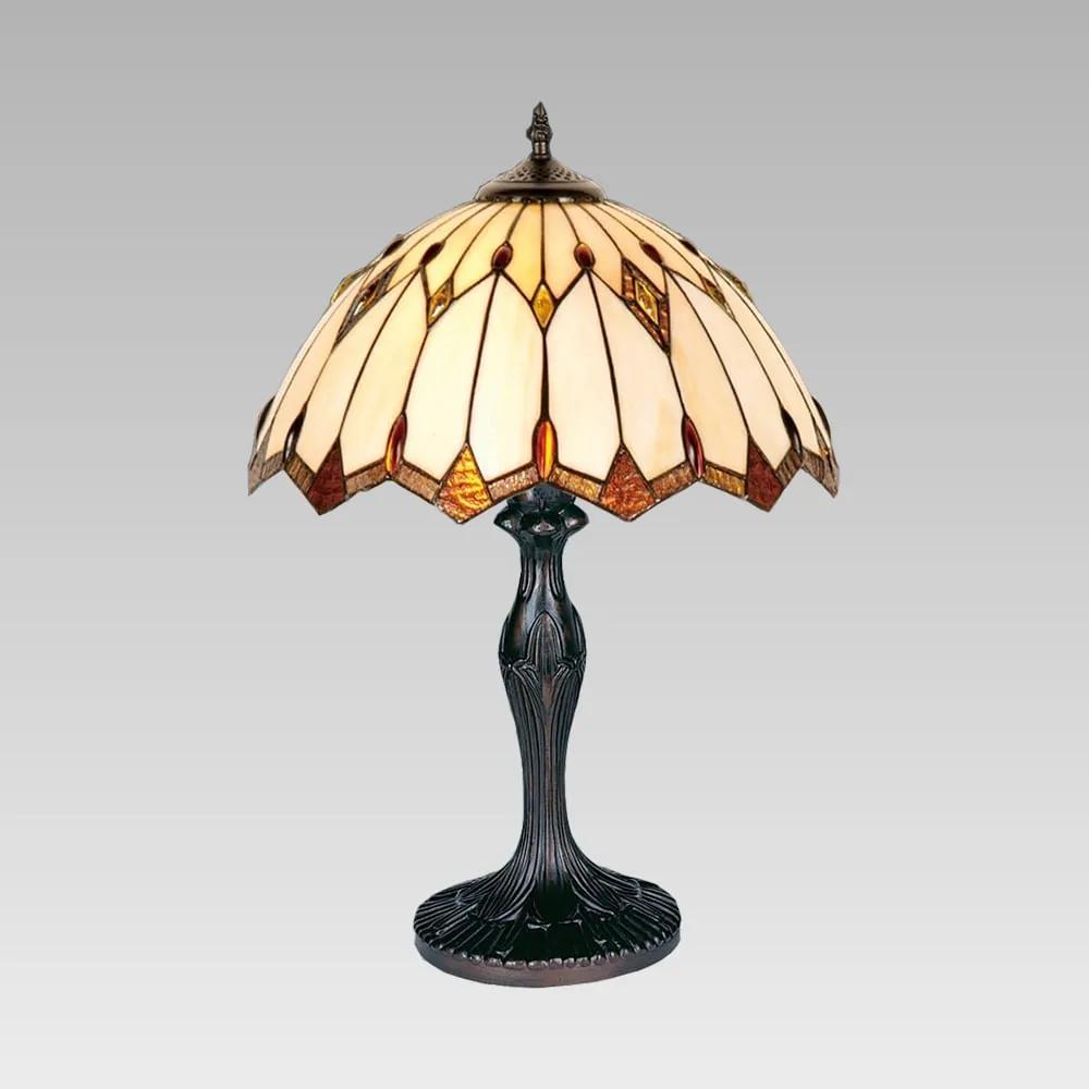 Interierové rustikálne svietidlo PREZENT TIFFANY hnedá E27 82