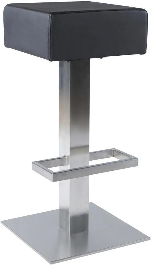 Dizajnová barová stolička Caden čierna