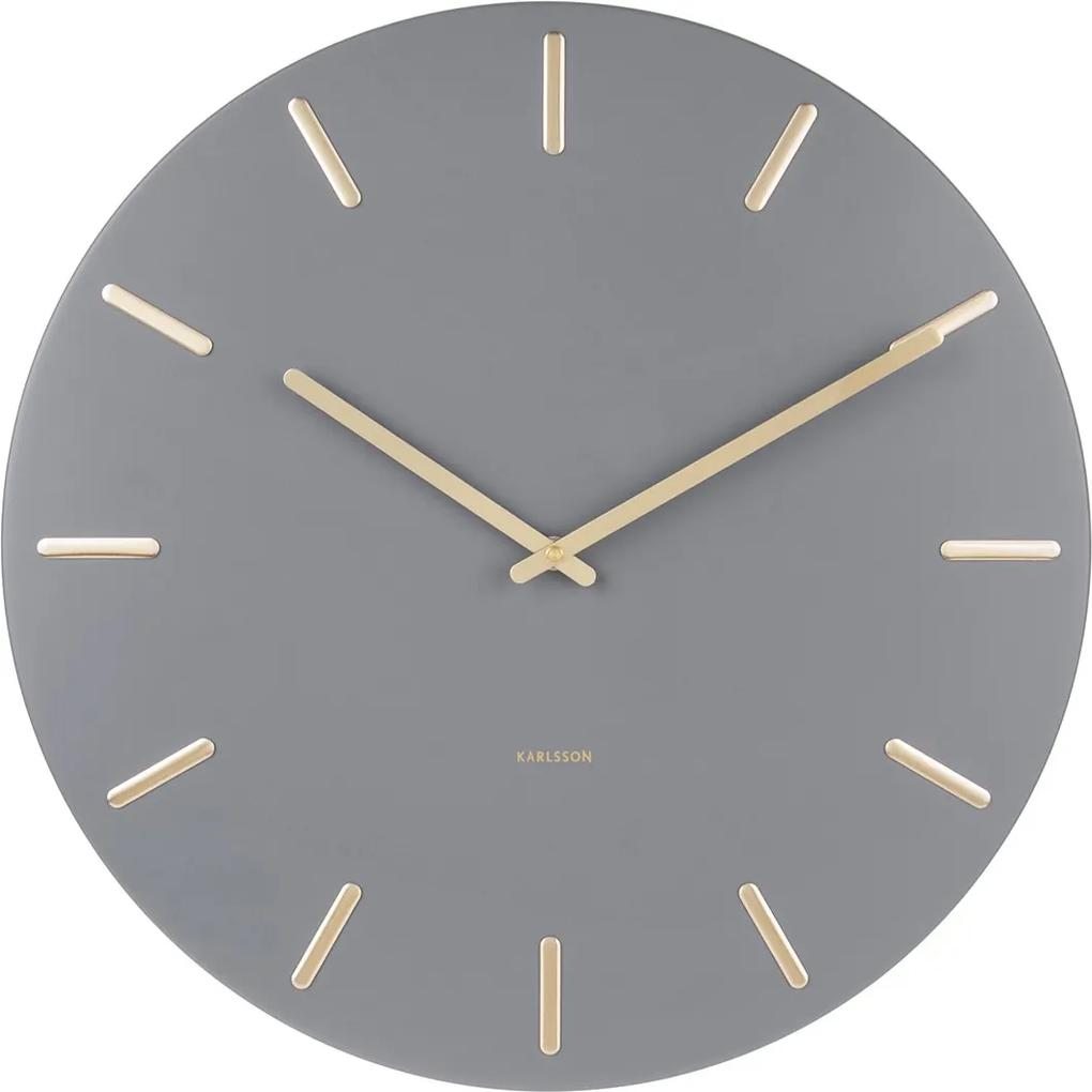 KARLSSON Nástenné hodiny Charm šedé