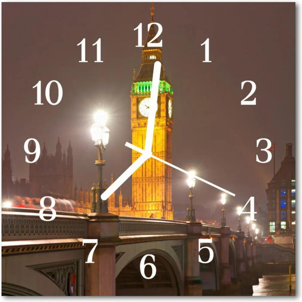 Skleněné hodiny čtvercové Velký ben