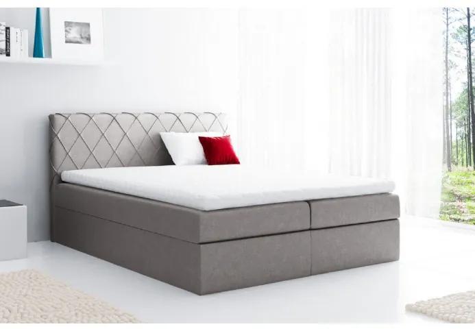 Pohodlná čalúnená posteľ Perez 120x200, béžová