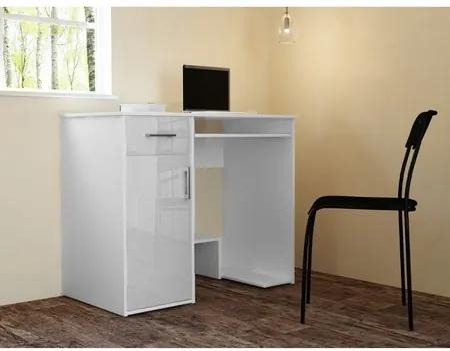 Počítačový stôl JAY lesklý biely