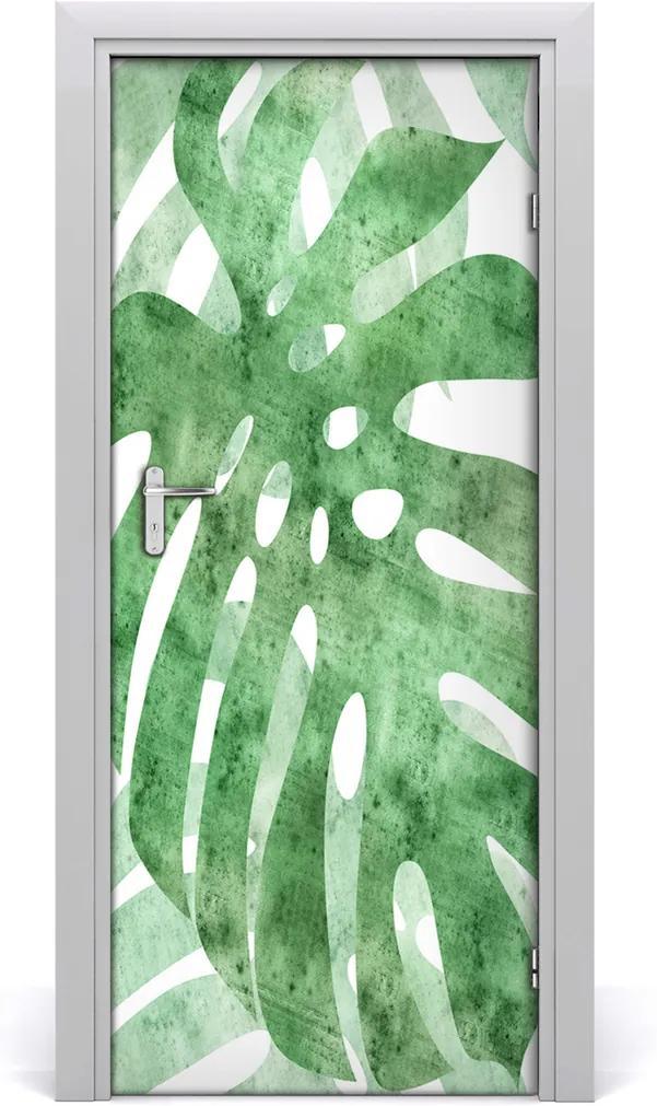 Samolepící fototapeta na dveře Monstera