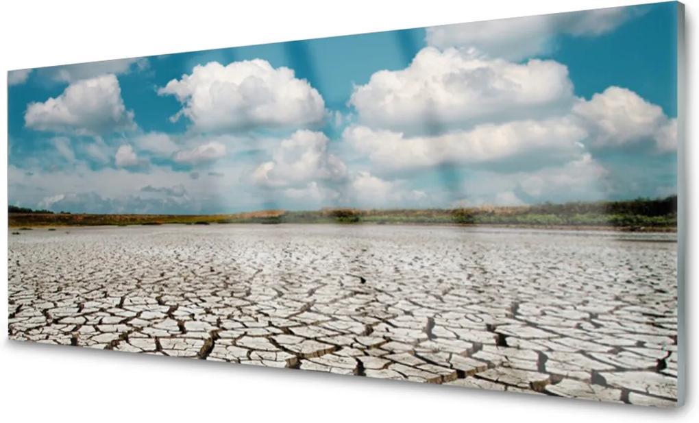 Obraz na skle Vyschlá řeka krajina