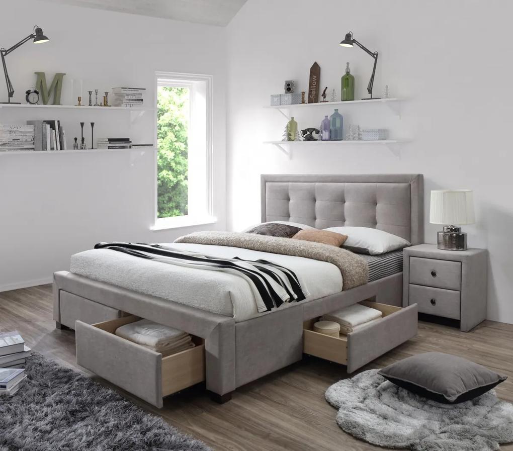 Halmar EVORA łóżko beżowy (6p=1szt)