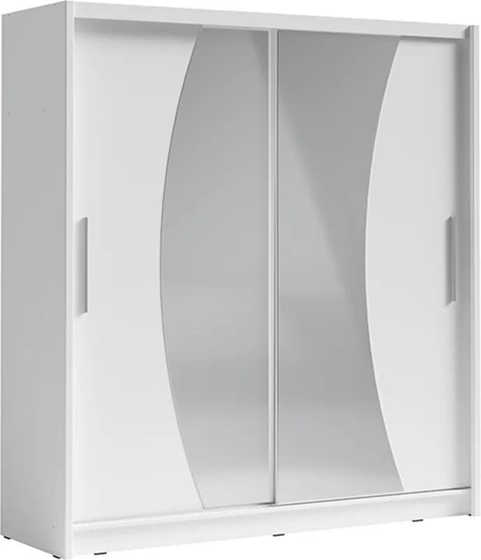 Skriňa s posúvacími dverami, biela, BIRGAMO TYP 2