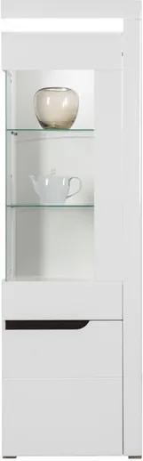 Sconto Vitrína IVONA IM7 biela vysoký lesk, pravá