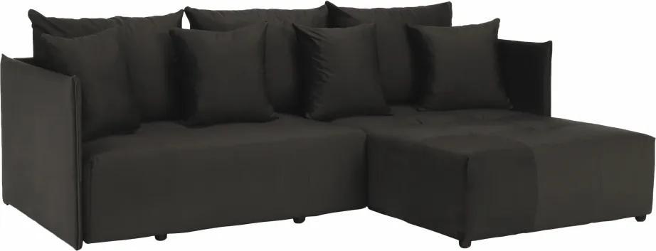 Univerzálna sedacia súprava, tmavosivá, LENY ROH