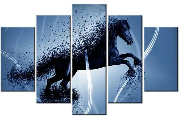 Tlačený obraz Modrý kôň – Jakub Banas 100x63cm 3574A_5D