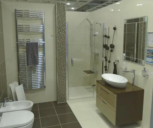 Sprchové dvere Huppe Aura Elegance jednokrídlové 100 cm, sklo číre, satin profil, pravé 400206.087.322