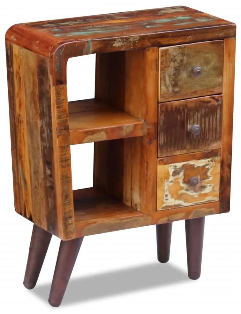 vidaXL Kredenc z pevného recyklovaného dreva, 60x30x80 cm