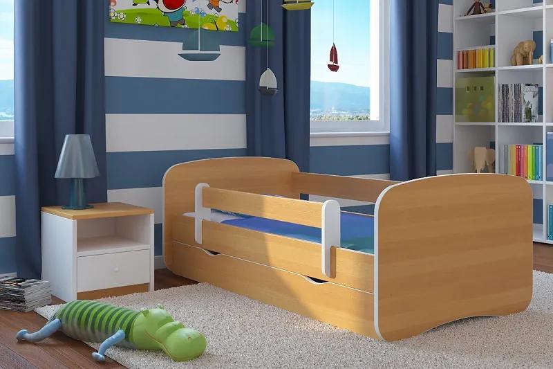 Ourbaby Detská posteľ so zábranou Ourbaby - buk 140 x 70 cm