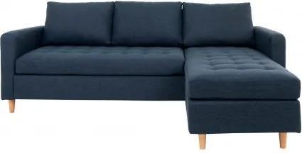 Rohová pohovka FIRENZE 219 cm polyester, modrý House Nordic 1301502