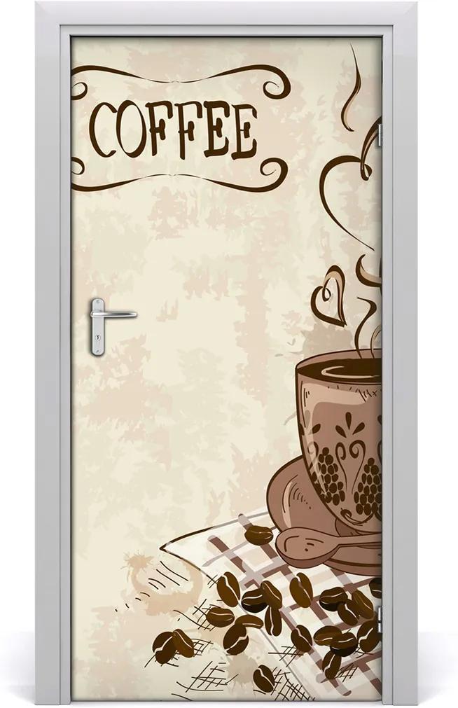 Fototapeta na dveře Aromatická káva