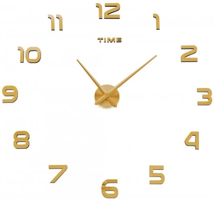 TZB Nástenné hodiny DIY NEPRI 65 - 130 cm - zlaté 3D