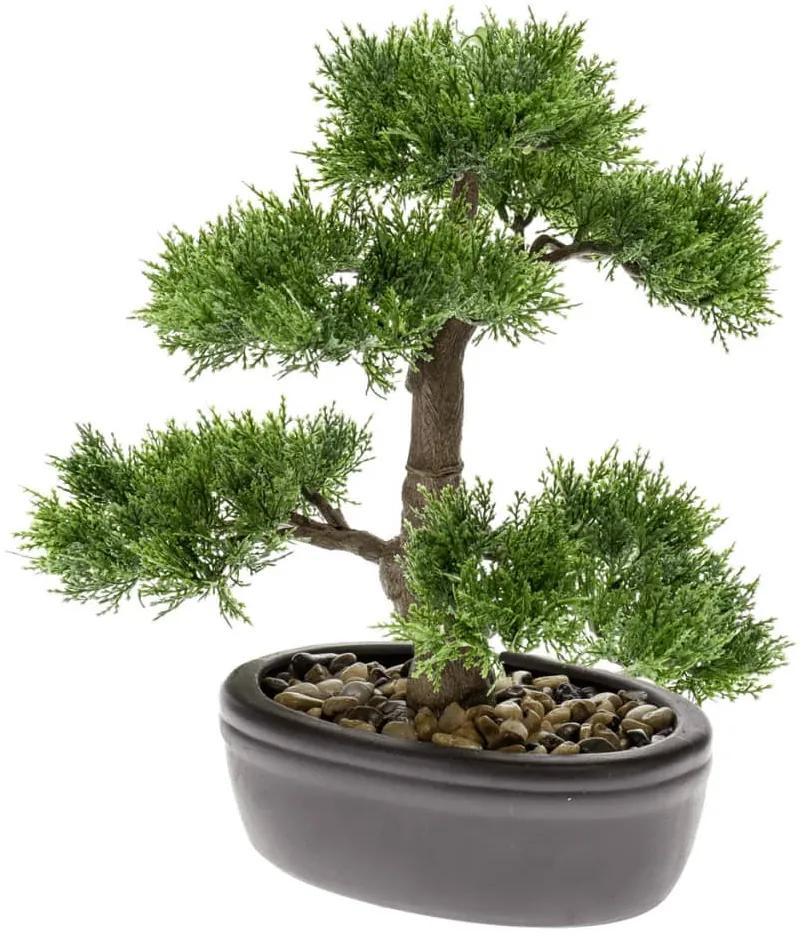 Emerald Umelý cáder v tvare bonsaje zelený 32 cm 420001
