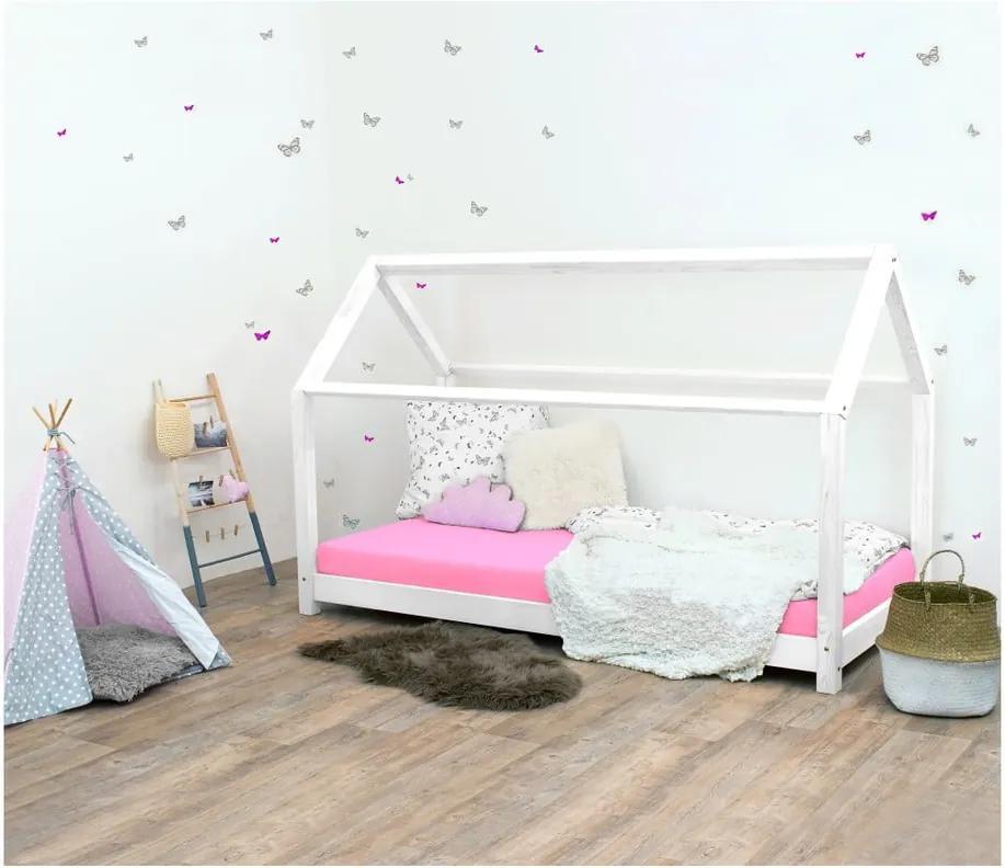 Biela detská posteľ bez bočníc zo smrekového dreva Benlemi Tery, 120 × 180 cm