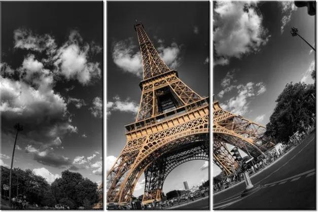 Tlačený obraz Výhľad zdola na Eiffelovu vežu 90x60cm 263A_3J