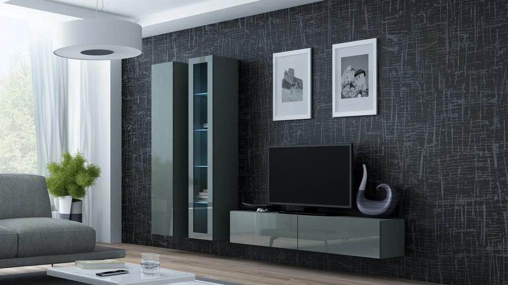 CAMA MEBLE Obývacia stena VIGO 10 Farba: sivá