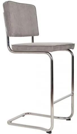 Ridge Kink Rib Barstool cool grey Zuiver 1500023
