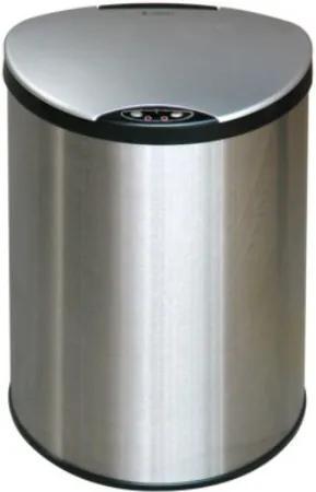 BEZDOTEKU Bezdotykový odpadkový kôš PETIT nerezový guľatý senzorový 12L