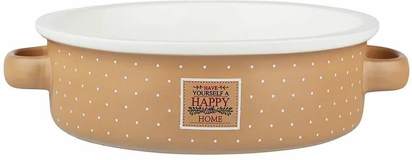 Altom Zapekacia misa Happy Home 18 cm, béžová