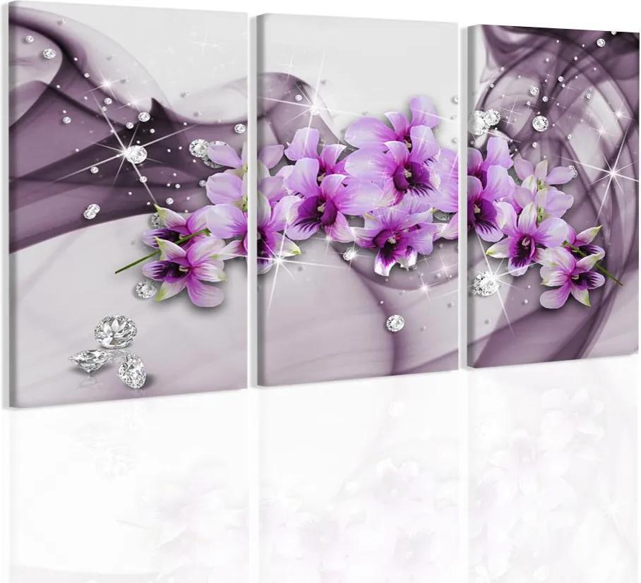 InSmile Obraz orchideje v růžové vlně(120x80 cm)