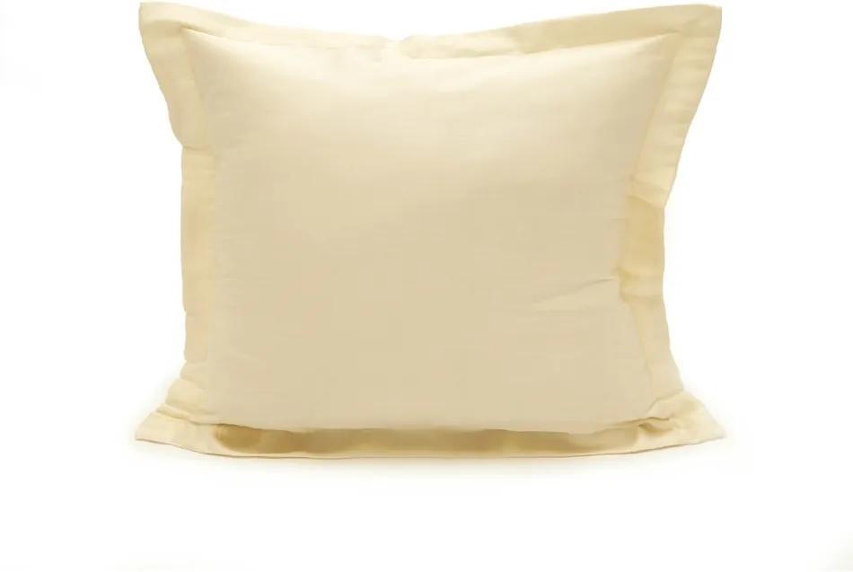 Kvalitex Obliečka na vankúšik satén smotanová, 50 x 70 cm