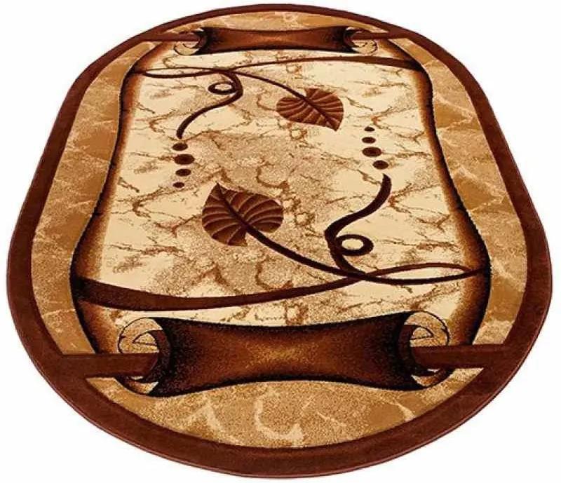 Kusový koberec Pergamen hnedý ovál, Velikosti 190x270cm