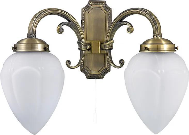 Rábalux 8532 Nástenné Lampy Maya bronz kov E14 2x MAX 40W IP20