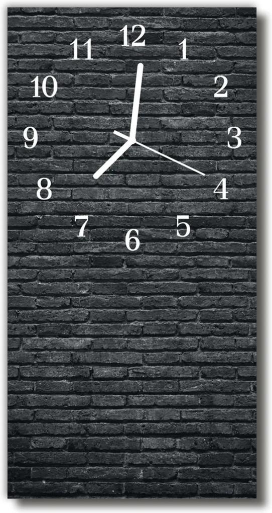 Nástěnné hodiny vertikální Příroda Černé cihly