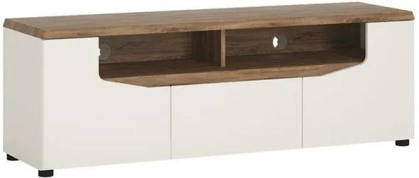 Sconto TV stolík TOLEDO biela/dub stirling