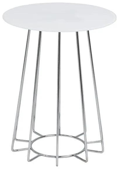 Casia príručný stolík biela/chróm