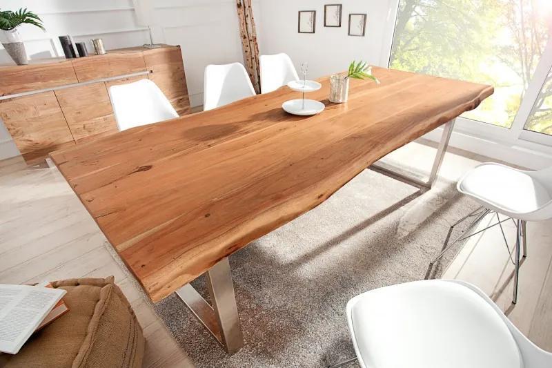 Luxusný jedálenský stôl z masívu Massive II New 220cm Honey