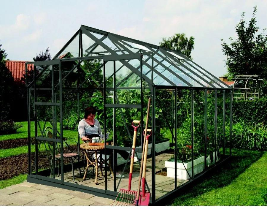Vitavia Garden - skleník VITAVIA URANUS 9900 číre sklo 3 mm zelený LG1042