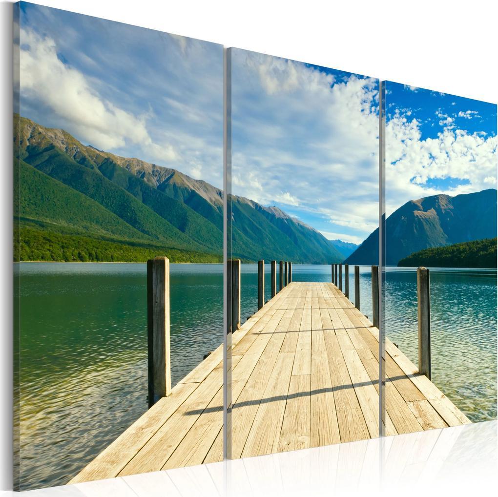 Obraz - A pier on the lake 60x40