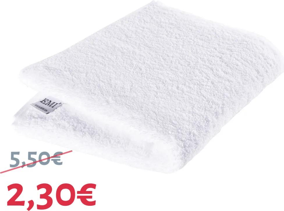 Uterák bavlnený biely 50 x 100 cm EMI