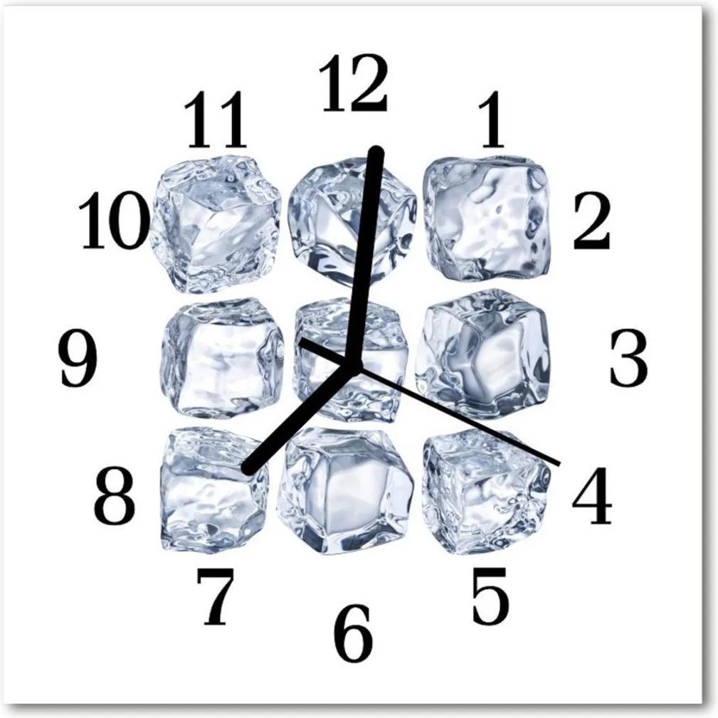 Nástenné skleněné hodiny led