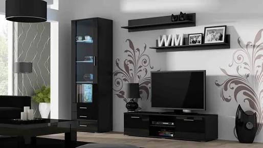 CAMA MEBLE Obývacia stena SOHO 7 Farba: čierna