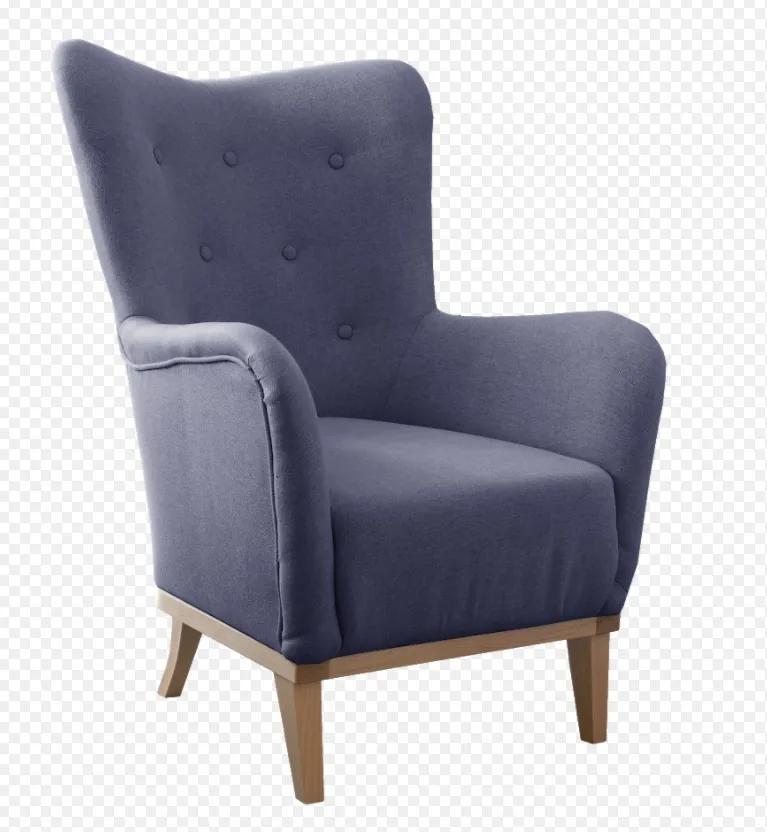 Dizajnové pohodlné kreslo Viktor, modré