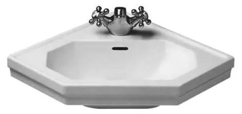 Keramické umyvadlo klasické DURAVIT 1930 SERIES 59,5x45 cm bílé 07934200001