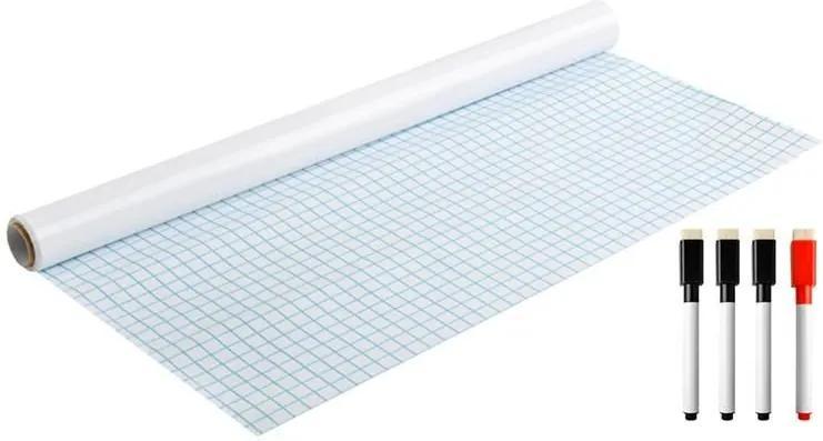 ISO Samolepiace kresliace tabule PVC 200x45 cm, biela, 8489